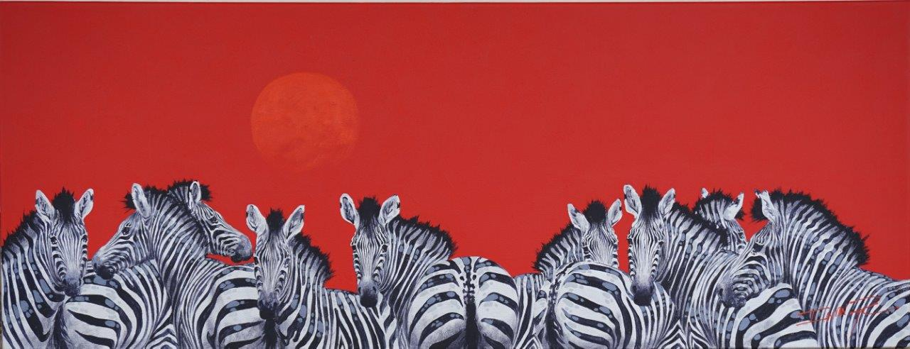 African Sun  Price: R15,500.00   Dimensions: 130 x 50cm  Medium: Acrylic on canvas