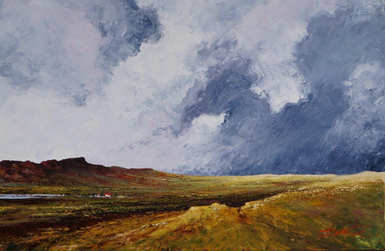Plaasdam  Price: R12,000.00 Dimensions: 110 x 70cm Medium: Oil on Canvas
