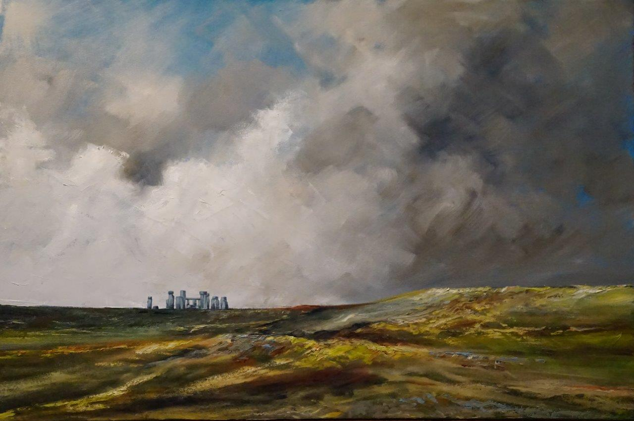 Stonehenge  Price: R12,500.00 Dimensions: 90 x 60cm Medium: Oil on canvas
