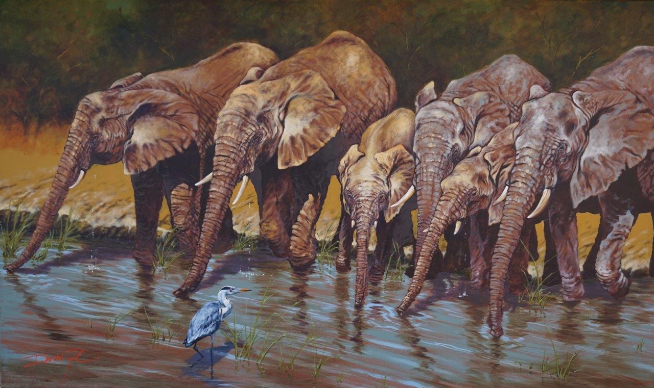 Thirst  Price: R65,000.00  Dimensions: 250 x 150cm  Medium: Acrylic on canvas